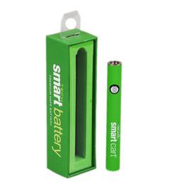 Ingrosso Nuovo Smart Cart Organic Premium Vape Battery 380mAh Preriscaldare VV Caricatore USB inferiore di tensione variabile SmartCart 510 Thick Oil e cigs dc022