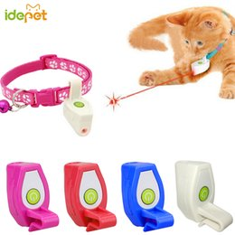 pet toy lasers 2019 - 1PC Toys For Cats Collar Laser Toy Light Pet Cat Laser Pointer Dogs Toy Cat Training Play Interactive For Cats Dogs 35 d