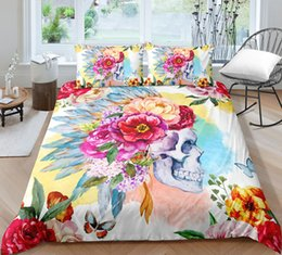 $enCountryForm.capitalKeyWord Australia - King Size Bedding Set Tribal Style Watercolor Skull 3D Printed Duvet Cover Queen Full Twin Single Double Bed Cover with Pillowcase 3pcs