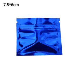 $enCountryForm.capitalKeyWord Canada - 7.5x6cm Blue Glossy Surface Aluminum Foil Heat Sealing Ziplock Packing Pouch Dried Food Package Bag Spice Smell Proof Storage Bag 200pcs lot