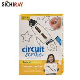 ElEctric circuit toys online shopping - Circuit scribe basic kit conductive Ink pen DIY drawing circuit on paper with electric ink children educational toys