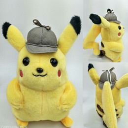 $enCountryForm.capitalKeyWord Australia - New Detective Pikachu Plush Toys 25CM Pikachu Plush Dolls Anime plush Best Xmas Gift for Kids