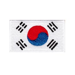 korea clothes wholesale UK - very cheap south korea embroidered flag patch badge hot cut iron on backing low price good quality patches for clothing