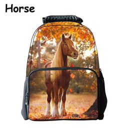 560d9249a7 iMaySon Children Schoolbag 3D Animal Yellow Horse Cute Kid Unisex Boy Felt  Backpack Printing Shoulders Bags School Girls Teenager Retail