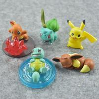 "Eevee Figure Australia - Hot New 5Pcs Lot 1.2""-2"" 3CM-5CM PKC Eevee Squirtle Charmander Bulbasaur Gashapon Figure Anime Collectible Action Figures Party Gifts Toys"