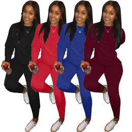 $enCountryForm.capitalKeyWord NZ - Brand Designer Women Tracksuit Long Sleeve T Shirt Hoodie + Pants Leggings 2pcs Set Sweatsuit Autumn Outfit CHAMP Sweatshirt Sportswear S-3X