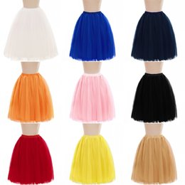cheap red petticoat Australia - Cheap Petticoats 5 Layers Tutu Skirts For Wedding Bridal Dress Free Shipping Women A Line Short Party Dress Mini Skirt CPA583