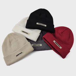 SportS logoS free online shopping - FOG Fear Of God ESSENTIALS Small Logo Beanie Cold Cap Knitted Hat Street Travel Fishing Casual Autumn Winter Warm Outdoor Sport HFHLMZ002
