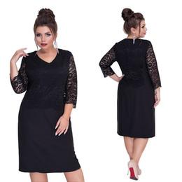 $enCountryForm.capitalKeyWord NZ - 2019 New Arrival Spring And Summer Women Lace Plus Size Knee-length Dress Xl-6xl