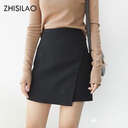 $enCountryForm.capitalKeyWord Australia - Zhisilao 2018 Woman Skirts Woman Pencil Skirt Lolita Bodycon Sexy Slim High Waist Jupe Petticoat Skinny Black Skirt Cotton Robe MX190730
