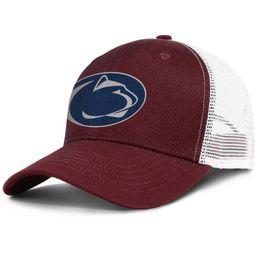 reputable site a2a30 34d9b Popular Mesh Baseball hat Men Women-Penn State Nittany Lions football logo  Mesh designer hats snapback Adjustable Bucket cap Outdoor