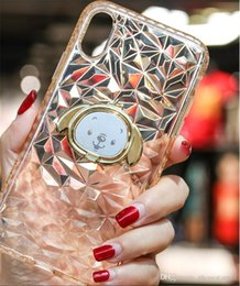 $enCountryForm.capitalKeyWord Australia - Diamond Pattern TPU Phone Case For Iphone xr xsmax Clear Protective RhombusShape Cell Phone Transparent Back Cover With Kickstand Holder