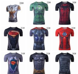 Superhero Shirts Wholesale Australia - 2017 SuperHeroes T shirts for men Iron Man Spiderman Green Lantern The Hulk Captain America Loki Thor Black Widow Hawkeye Avengers T Shirt