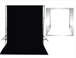 Photos white background online shopping - 6 x6 ft x2m Black with White Photography Backdrop Background Screen Photo Studio Non Woven Fabric Cloth