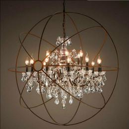 $enCountryForm.capitalKeyWord Australia - Modern Crystal Orb Chandelier Lamp Lighting RH Rustic Candle Chandeliers Vintage LED Pendant Hanging Chain Dinning Light
