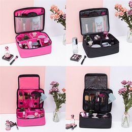 Discount flight cases - Portable Women Makeup Bag Waterproof Cosmetic Case Storage Handle Travel Flight Organizer Toiletries Storage Bags Pocket