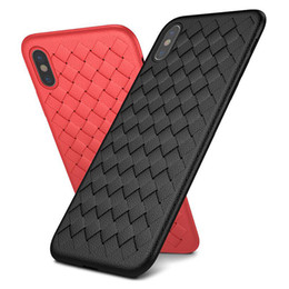 $enCountryForm.capitalKeyWord NZ - Woven Mesh Breathable Soft TPU Case for iPhone X XR XS MAX 8 7 Plus Samsung S9 Plus Note9 Huawei Mate 20 PRO