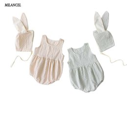 Wholesale MILANCEL Summer Baby Bodysuits Cute Bunny Style Infant Girls Bodysuits Sleeveless Toddler Boys Clothes