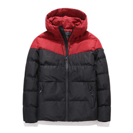 quilted parka men Australia - Port& Men's Winter Jacket Parkas Men Casual 2019 Hooded Coats Outerwear Thick Cotton Quilted Male Brand Clothing