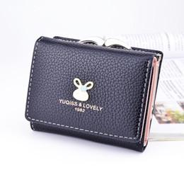 $enCountryForm.capitalKeyWord NZ - Fashion designer women wallet small three fold PU leather wallets mini size women purse brand designed students coin purse.