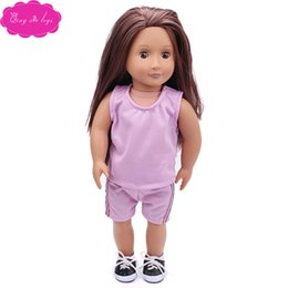 "preppy clothing Australia - 18 ""American doll clothing accessories summer short sleeve suit fresh and simple"