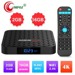 android set top box quad NZ - Hot M9S MAX Android 7.1 Amlogic S905W Quad Core TV BOX 2GB 16GB 1GB 8GB Suppot H.265 UHD 4K 2.4GHz WiFi Set-top box Better H96 MAX PLUS