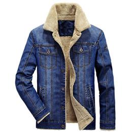 Cowboys Clothes Australia - M-6xl Men Jacket And Coats Brand Clothing Denim Jacket Fashion Mens Jeans Jacket Thick Warm Winter Outwear Male Cowboy