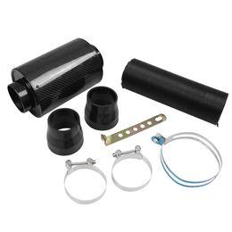 Filter Boxes Australia - Car universal modified intake air box car air filter set air intake modified high flow carbon fiber bellows