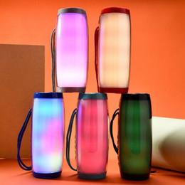 Tablet Pc Loudspeaker Australia - Colorful LED Light Speaker Bluetooth Wireless Subwoofer Stereo Hifi Speakers FM Raido Multicolor Lamp Loudspeaker for Computer Tablet PC