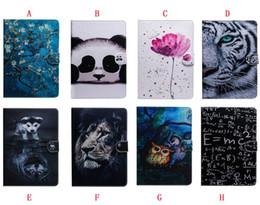 "$enCountryForm.capitalKeyWord Canada - Cartoon Wallet Leather Case For Ipad Mini 5 1 2 3 4 Mini5 Ipad Pro 11"" 2018 Fold Card Slot Owl Tiger Panda Dog Animal Stand Skin Cover 25pcs"