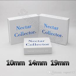 $enCountryForm.capitalKeyWord Australia - Hot Nector collector 10mm 14mm 19mm nector collector kit gift pack with Gr2 titanium nail domeless quartz nails water oil rigs glass bong