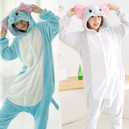 elephant cosplay Australia - Adult Onesie Anime Women Costume Elephant Halloween Cosplay Cartoon Animal Sleepwear Winter Warm Flannel Hooded Pajama