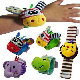 Best Baby Rattle Australia - Baby Rattles Toys Animal Socks Wrist Strap with Rattle Baby Foot Socks Wrist Strap Cartoon Educational Best Gift