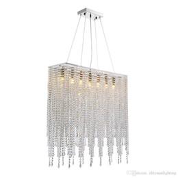 "$enCountryForm.capitalKeyWord Australia - Modern Rectangle Linear Chandeliers Raindrop Island Lighting Fixture for Dining Room Kitchen Island L31.5"" Polished Chrome"
