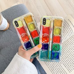 phone shell box Australia - Ins personality paint box for 8plus iphone x mobile phone shell iphonexs max soft shell 7P 6s female models xr