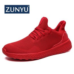 $enCountryForm.capitalKeyWord Australia - ZUNYU 2019 New Summer Fashion Men's Casual Shoes Flat Men Shoes Lightweight Comfortable Breathable Mesh Mens Walking Sneakers