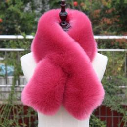 $enCountryForm.capitalKeyWord Australia - high quality faux fox fur scarf thick warm fake fur collar winter women muffler fur ring neck warmer coat decoaration lady scarf