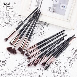 $enCountryForm.capitalKeyWord Australia - 12pcs lot Makeup Brushes Make Up Brush Set Professional Eyeshadow Soft Eyebrow Blending Eyelash Cleaner Cosmetics Tools