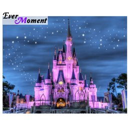 $enCountryForm.capitalKeyWord Australia - wholesale Diamond Painting Castle Mosaic Decoration For Home Full Square Drill Diamond Embroidery Scenery Rhinestone S2F2019