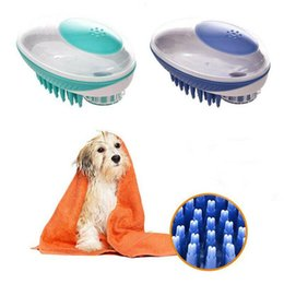 violet hair UK - Pet Bath Brush for Cat Dog Massage Brushes Removes Loose Hair Comb Pet Shower Scrubber Pets Grooming Tools 10pcs IIA87