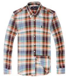 $enCountryForm.capitalKeyWord Australia - Mens ralph polos lauren shirt luxury cotton long sleeve blouse stripe lightweight shirts business skinny trend tShirts Official new style