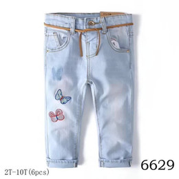 483b26497 newborn baby boy denim children clothes Designer children's girls pant kids  print embroidery high quality fashion d-02 jeans cartoon