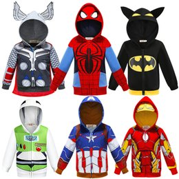 Dhl styles clothing online shopping - Baby Hoodies super Hero coat Kids Cars Planes Sportswear Little Boy Tracksuit Halloween Makeup Evening party Kids Jacket clothes shipby DHL
