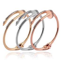 Опт Женщины Браслеты Браслет Женская Мода Модные Геометрические Ногтей Открытые Браслеты Манжеты Ювелирные Изделия Свадьба Подарок На Годовщину