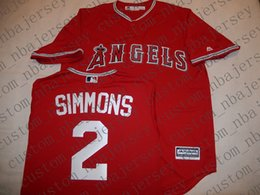 a7fa705104c5 Cheap Custom Anaheim ANDRELTON SIMMONS Baseball jerseys Red Stitched Retro Mens  jerseys Customize any name number MEN WOMEN YOUTH XS-5XL