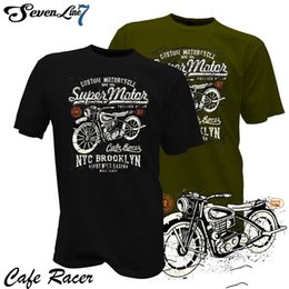 Men s Motorcycle t shirts online shopping - Hot Sale Men T Shirt Fashion T Shirt Cafe Racer Biker Motorrad Rocker Garage Custom Motorcycle Club Summer O Neck Tops