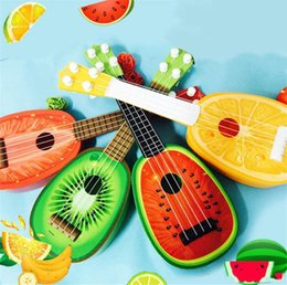 Stringed inStrument online shopping - Mini ukulele stringed music instrument creative fruit cute toy early childhood music education instrument children s toys