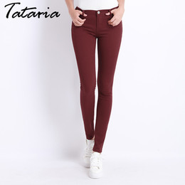 $enCountryForm.capitalKeyWord NZ - Jeans Female Denim Pants Candy Color Womens Jeans Donna Stretch Bottoms Feminino Skinny Pants For Women Trousers 2019 Tataria MX190714