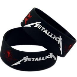$enCountryForm.capitalKeyWord UK - Wholesale 100 Metallica Metal band rock band music Silicone Rubber Wristband bracelet jewelry Bracelet Black