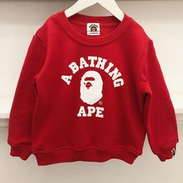 $enCountryForm.capitalKeyWord Australia - Bape Hoodies Kids Designer Long Sleeve Clothes Boys Tees Childrens Clothes Baby Girl Casual Hoodies Blue Red